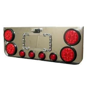 Stainless Steel Rear LED Light Panel Truck And Trailer Automotive