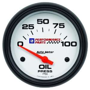 GM Performance Parts 2 5/8 0 100 PSI Electric Oil Pressure Gauge