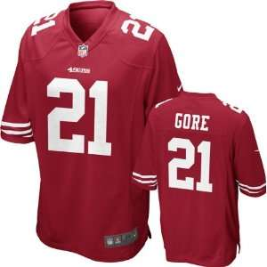 Gore Jersey Home Red Game Replica #21 Nike San Francisco 49ers Jersey