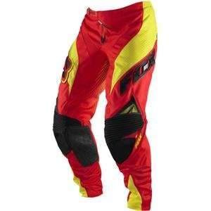 Fox Racing Platinum Race Pants   36/Red/Yellow Automotive