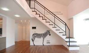 Big Zebra Animal Adhesive WALL STICKER Removable Decal