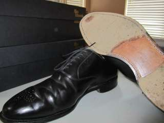 Allen Edmonds Bancroft 11D black shell cordovan