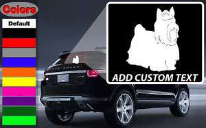 Yorkshire Terrier 2 Dog Wall Car Vinyl Decal Sticker