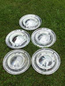 Five Original 1955 Chevy Bel Air Hubcaps