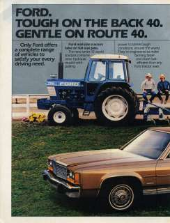 1982 Ford 7710 Tractor F 150 Pickup Truck & LTD 2 Page Farm Ad