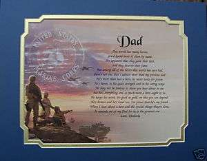 PERSONALIZED POEM GIFT FOR MILITARY MARINES DAD MY HERO