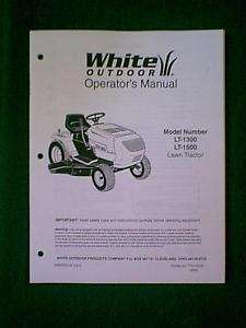 WHITE LAWN TRACTOR RIDING MOWER LT 1300 LT 1500 MANUAL