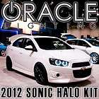 Sonic ORACLE Headlight HALO Kit 6K HID White LED/SMD Halos DRL Rings