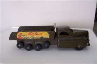 vintage metal BUDDY L half track mobile ARTILLERY UNIT ARMY TRUCK TOY