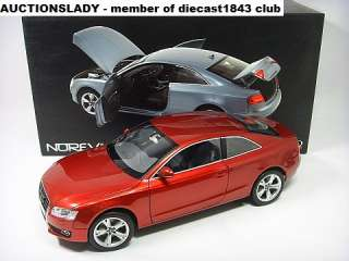 18 Norev Audi A5 Coupe Quattro 2010 Red Rot Rouge NIB