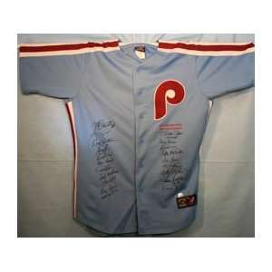 1980 Philadelphia Phillies Team Signed/Autographed Jersey