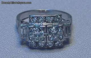 Antique Art Deco 1.26C Diamonds Platinum Ring