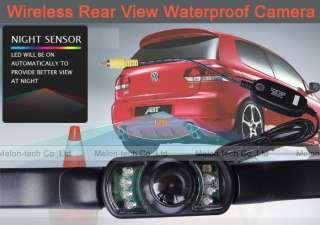 Wireless Car Rear View IR Night Vision Camera color wpf