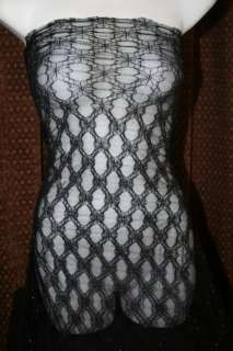 SHEER black SILVER mesh DIAMOND stretch LACE fabric 60