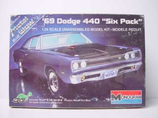 Monogram 69 1969 Dodge 440 Six Pack Model Kit 2215