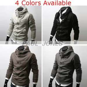 Men's Stylish Slim Fit Hoodies Jacket Coats 4color