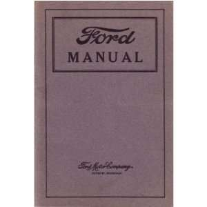 1920 1924 1925 1926 FORD Car Truck Owners Manual Guide Automotive
