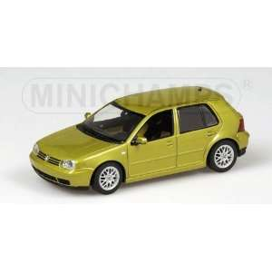 VW GOLF 1997 in GOLD METALLIC Diecast Model Car in 143 Scale by