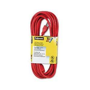 Fellowes® Indoor/Outdoor Heavy Duty 3 Prong Plug Extension Cord, 1