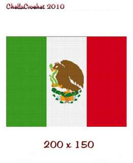 Mexico Mexican Flag Afghan Crochet Pattern Graph