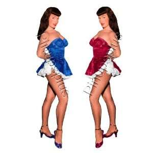 Twin Bettie Page Burlesque Pinup Decal S372 Musical