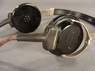 WWII GERMAN OFFICER RADIO TELEGRAPH HEADPHONES HEADSET
