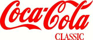 Coca Cola Classic vinyl decal sticker logo for cars, window, old