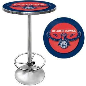 Atlanta Hawks NBA Chrome Pub Table   Game Room Products Pub Table NBA