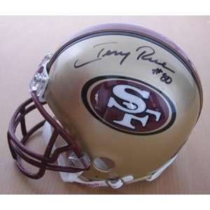 Jerry Rice Hand Signed Autographed San Francisco 49ers Mini Helmet w