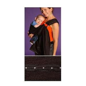 Basic Black with Silver Studs Rockin Baby Sling Baby