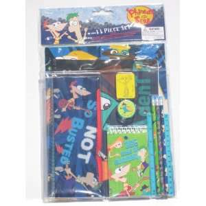 Phineas and Ferb Perry School Supplies Folders Pencils