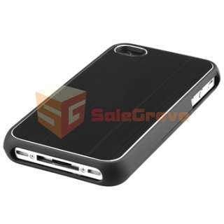 Aluminum Case Cover+Privacy LCD Guard for Verizon ATT iPhone 4 4S