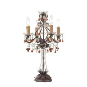 Crystorama Lighting Group 4524 DR Dark Rust / Amber Crystal Paris Flea