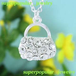 Fashion Jewelry Crystal pendant Necklace N1187W