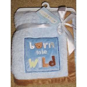 Wishes & Kisses Baby Boy Soft Plush Fleece Blanket born