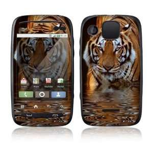 Fearless Tiger Decorative Skin Decal Sticker for Motorola Citrus Cell
