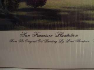 Brad Thompson Signed/Autographed Small Print  San Francisco Plantation