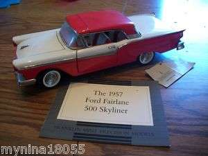 FRANKLIN MINT 1957 Ford Fairlane 500 Skyliner