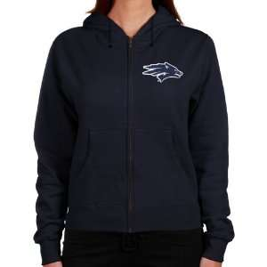 Nevada Wolf Pack Ladies Navy Blue Logo Applique Lightweight Full Zip
