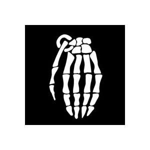 GRENADE GLOVE SKELETON HAND   3 WHITE Vinyl Decal Window
