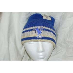 NFL Indianapolis Colts Vintage Striped Old School Logo Beanie Hat Cap
