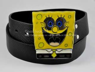 Cartoon SpongeBob SquarePants Mens Buckle &Free Belt