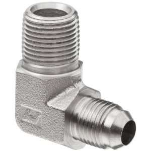 Brennan 2501 04 02 SS, Stainless Steel JIC Tube Fitting, 04MJ 02MP 90