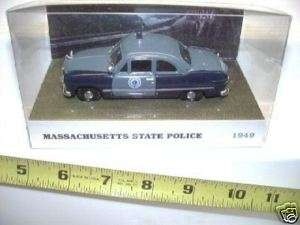 1949 FORD MASSACHUSETTS STATE POLICE CAR RARE NEW BOXD*