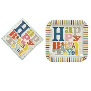 Happy Birthday Paper Plates and Napkins Set By Meri Meri Toys & Games