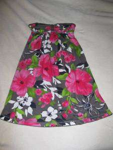 Abercrombie Girls Strapless Floral Dress Brand New with Tags M L
