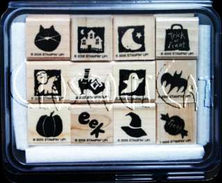 STAMPIN UP Bitty Boos Too STAMPS SET Halloween Cat Witch Hat Shoe