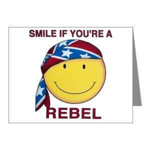 Note Cards (10 Pack) US Rebel Flag Smiley Face Smile If