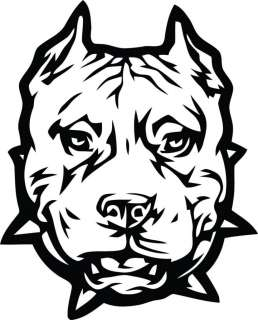 Tribal Pit Bull Dog Vinyl Die Cut Decal   18 colors