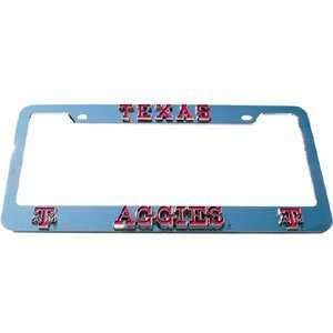 Texas A&M Aggies License Plate Tag Frame   NCAA College Athletics Fan